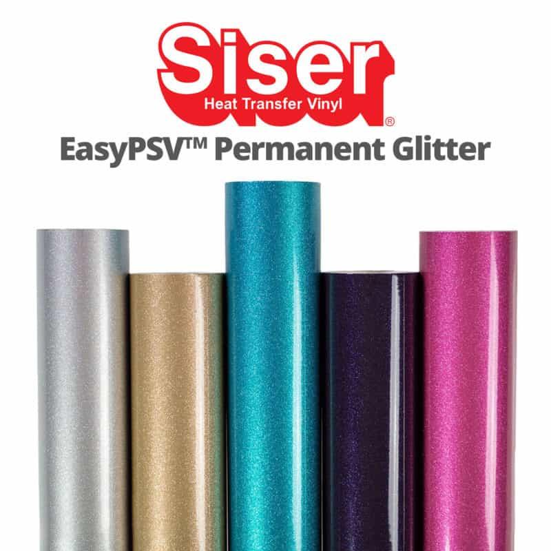 EasyPSV Glitter - Vinil Autoadherible Glitter para Plotter de Corte