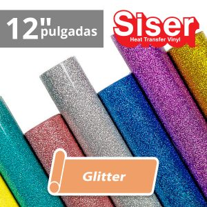 Vinil textil siser glitter 12 pulgadas venta por metro lineal